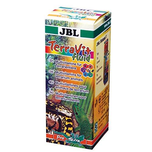 JBL TerraVit Fluid 71032 Ergänzungsfutter für Terrarientiere Vitamine und Spurenelemente Flüssig, 50 ml