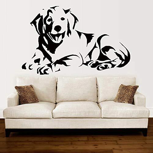 HGFDHG Labrador Perro Pared Lindo Cachorro Golden Retriever Perro acostado en la Imagen Pintura de la Pared Sala de Estar sofá Fondo Vinilo Etiqueta de la Pared