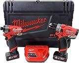 Milwaukee Kit 12 Volt M12 FPD + M12 FID - 2 batterie 6,0Ah Tecnologia FUEL