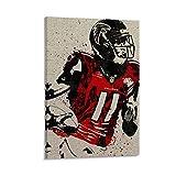 CHANGCHEN Atlanta Falcons Poster auf Leinwand, Kunst-Poster