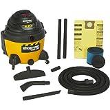 Shop-Vac 9625210 6.25-Peak Horsepower - aspiradora húmedo y seco, 16 galones de herramientas y accesorios para almacenamiento de cables, utiliza filtro de cartucho tipo X y funda de espuma tipo R y...