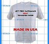 Jetpro Soft Stretch Inkjet Transfer Paper Lights 8.5' x 11' (100 sheets)