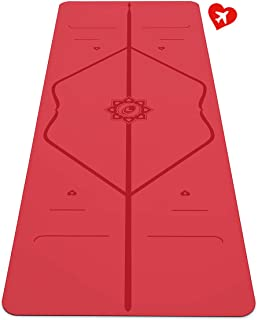 Liforme Love Travel Yoga Mat - The World's Best Eco-Friendly, Non Slip Yoga Mat with The Original Unique Alignment Marker System. Biodegradable & A Warrior-Like Grip - Special Edition Love Portable