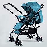 DFSSD Compact Gepäck-Style Spaziergänger, leichte Spaziergänger-Buggy, Multi-Position Neigung der Rückenlehne, 5-Punkt-Sicherheitsgurt, Geeignet von der Geburt bis 22Kg,Grün