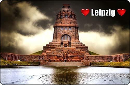 Cadora Magnetschild Kühlschrankmagnet I Love Leipzig I