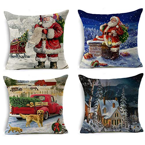 goneryisour - Funda de almohada con diseño de Papá Noel