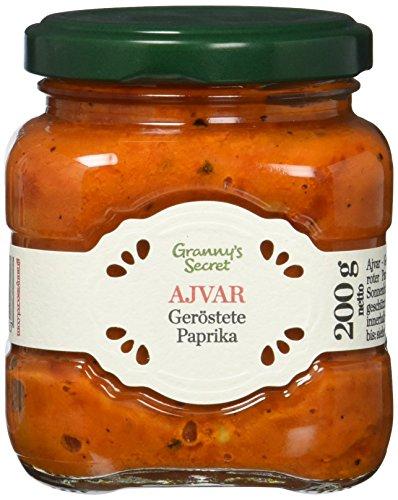 Granny´s Secret Ajvar Geröstete Paprika - Original aus Serbien, 1er Pack (1 x 200 g)