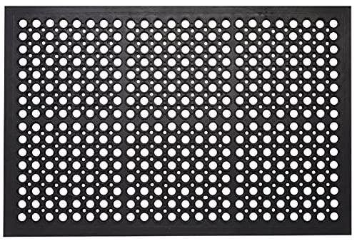 "Envelor Anti Fatigue Rubber Floor Mat Restaurant Kitchen Drainage Mat Door Mats Durable Non-Slip Bar Mat Utility Mat Indoor Outdoor Wet Area 24"" x 36"""