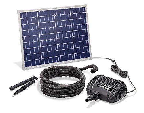 Solar Bachlaufset 50W Solarmodul 2500 l/h Förderleistung 2m Förderhöhe inkl. 5m Schlauch 25mm Bachlaufpumpe esotec pro Komplettset 101960