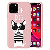 ZhuoFan Funda para Samsung Galaxy A21s 4G, Cárcasa Silicona Rosa con Dibujos Diseño Suave Gel TPU Antigolpes de Protector Piel Case Cover Bumper Fundas para Movil Samsung A21s 4G, Perro Mono