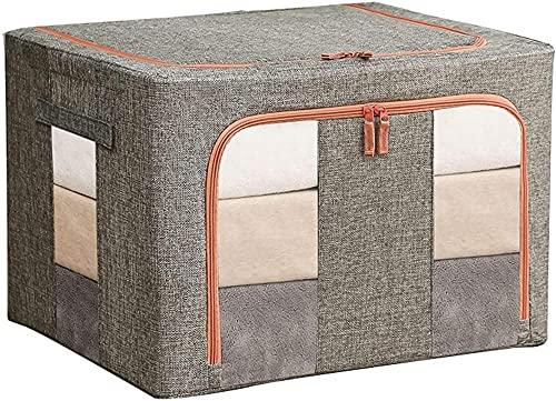 Bolsa de almacenamiento plegable Organizadores Impermeable Anti-Molde Humedad A prueba de humedad Almacenamiento con ventana transparente Llevar mangos para la ropa de cama de mueble de manta (3