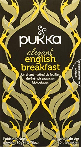 Pukka Elegant English Breakfast Tea, 20 Filtri