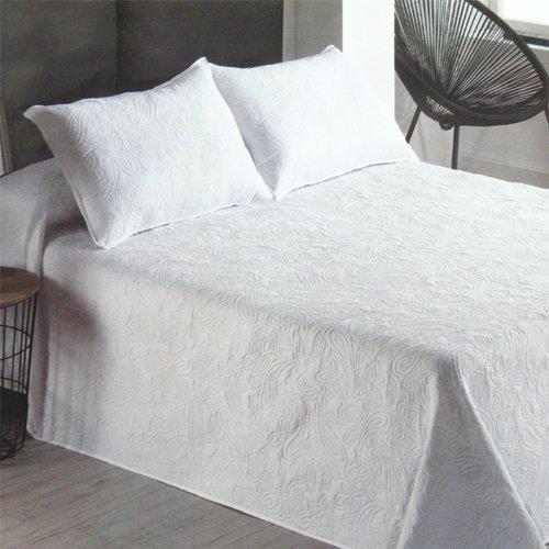 Export Trading texitle Colcha Bouti Nova Blanco Primavera-Verano (Cama 150 cm. (250x260))