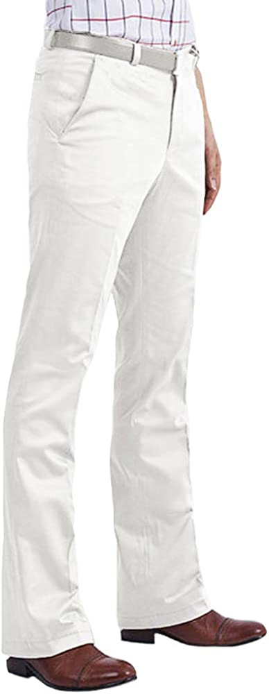 60s – 70s Mens Bell Bottom Jeans, Flares, Disco Pants HAORUN Men Bell Bottom Pants 60s 70s Vintage Flare Formal Dress Trousers Slim Fit  AT vintagedancer.com