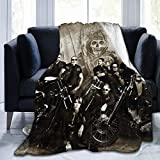 Sons of Pretty Anarchy Ultra-Soft Breathable Flannel Throw Blanket,50'' x40