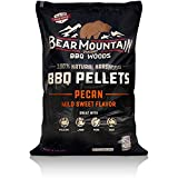Bear Mountain BBQ 100% All-Natural Hardwood Pellets - Pecan (20 lb. Bag) Perfect for Pellet Smokers, or Any Outdoor Grill | Mild, Sweet, Smoky Wood-Fired Flavor