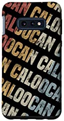 This black retro vintage phone cover for men and women is the perfect birthday gift for Caloocan lovers. Grab this mobile phone accessory for your friends or family related boys and girls who really like this town or call this city home Colorful retr...