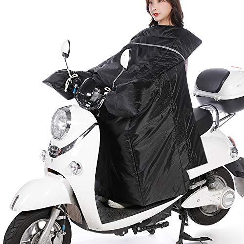 KKmoon Motorfiets voorruit afdekking winter plus fluweel verdikking pad elektrische scooter warmer, verhoog batterij auto straatbaan winddicht warmte roze zwart