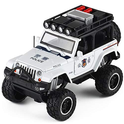 Xolye 4-Rad-Stoßdämpfung Funktion Querfeldein Klettern Auto-Modell Riesenrad Jungen-Spielzeug-Auto-Legierung Ton und Licht Pull Back-Spielzeug-Auto kann die Tür for Kinder Spielzeugauto