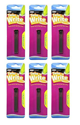 Twist N' Write 5 Lead Refills (Pack of 6, 30 Refills Total)