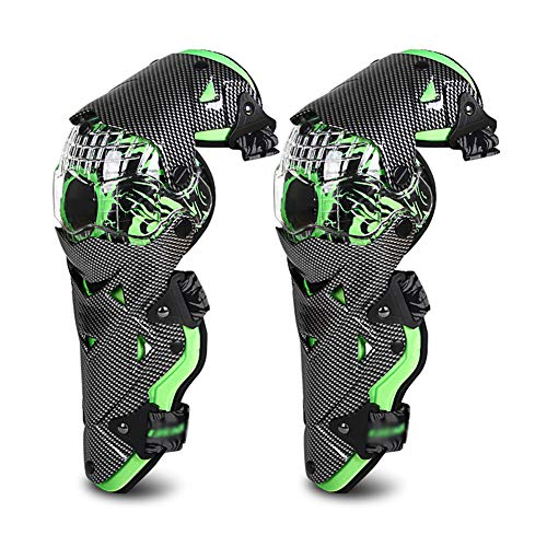 TZTED Motorcycle Knee Pads, Knee Shin Pads Guard Protector Gear for Motocross ATV Skating,Green
