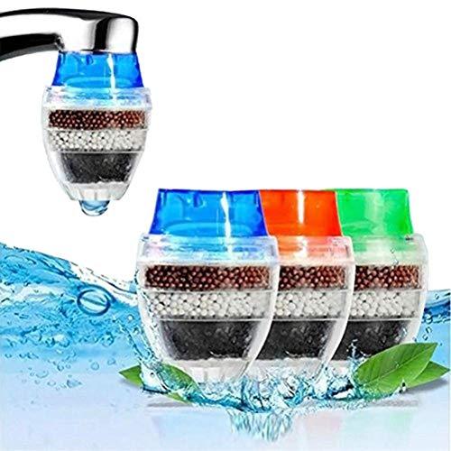 Mini purificador de agua de carbón activado doméstico, reemplazo del filtro de agua del grifo, purificador doble del grifo del agua purificador de la cocina del hogar filtros del grifo