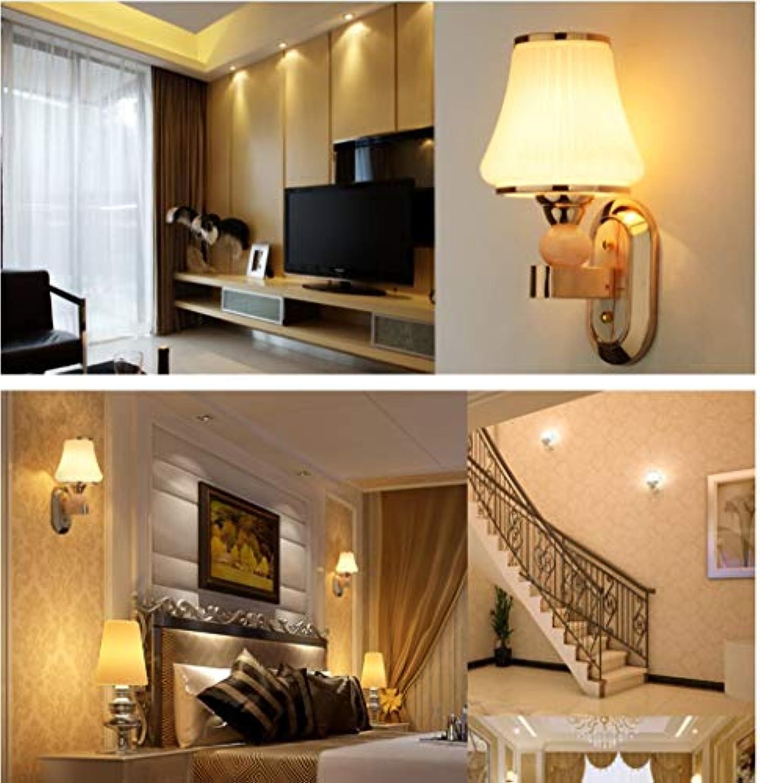 Mode Led Nachttischlampe Wandleuchte Minimalistischen Schlafzimmer Gemütliches Wohnzimmer Balkon Gang Flur Treppe Glas Lampe [Effizienz  A+] Schne Lampen (Gre  1)