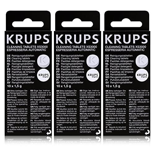 Krups Lot de 3 boîtes de pastilles détergentes XS3000