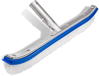 """Lalapool Swimming Pool Wall & Tile Brush,18"""" Polished Aluminum Back Cleaning Brush Head Designed for Cleans Walls, Tiles &..."""