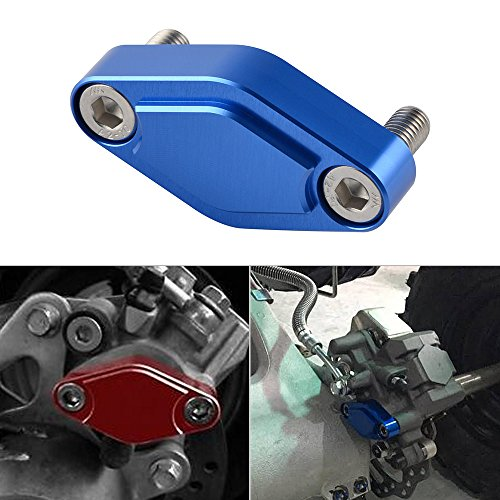 NICECNC Blue CNC ATV Parking Brake Block Off Plate for Raptor 125,250,350,660,700,YFZ450/450R/X,Warrior 350,Banshee 350,TRX 450R/400EX/300EX,LTZ 400/LTR 450,KFX 400/450