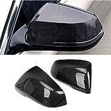 Fibre de carbone Vue arrière du miroir Couvercle Remplacement Ajustement de remplacement pour BMW 1...