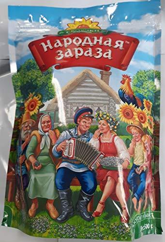 "Premium Roasted Sunflower Seeds / Semechki ""Narodnya Zaraza"" Pack Of 4"