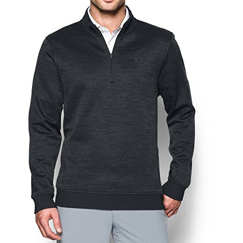 Under Armour 2017 Mens UA Storm SweaterFleece Herringbone 1/4 Zip Pullover XL Anthracite/Black