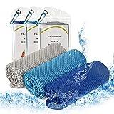 パラディニア(Paladineer)冷却タオル 3枚セット 吸水速乾 UVカット 瞬冷タイプ 熱中症対策 ひんやり感 スポーツ クールタオル 吸水性抜群