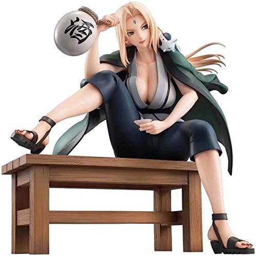 Hngyanp Anime Carácter Modelo, Naruto Beber-Tsunade 16 cm Anime Figura Nijia Tsunade Estatua Coleccionables Recuerdo Decoraciones Modelo Tsunade, Juguetes para niños (Color : Tsunade)