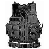 BATTLE CAT サバゲー メッシュ タクティカル ベスト ミリタリー 特殊部隊 SWAT 装備 ブラック 黒 多機能(ブラック)