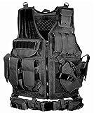 BATTLE CAT サバゲー メッシュ タクティカル ベスト ミリタリー 特殊部隊 SWAT 装備 (ブラック) サイズ: 縦幅60CM 横幅55CM