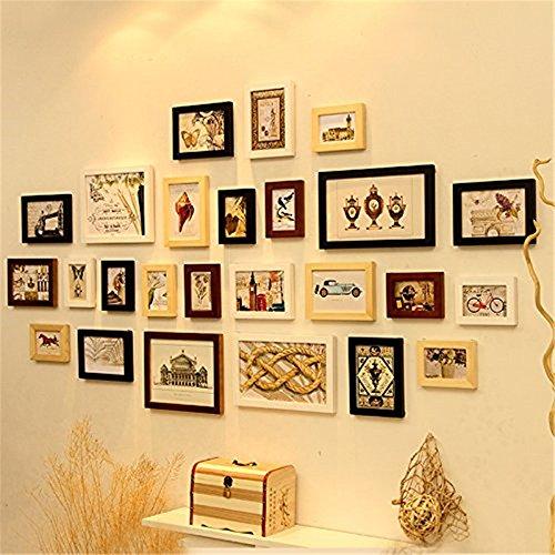11Multi fotolijstset, fotolijst, wandframeset met hoogwaardige frames, grote fotolijstwandset, beste muurdecoraties, vintage fotolijsten