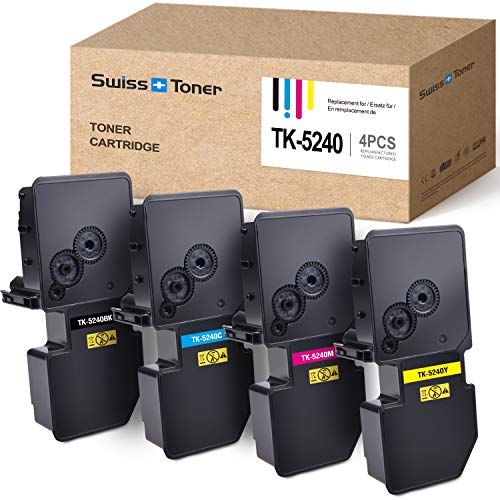 SWISS TONER 1 Satz TK5240 TK-5240 Multipack Tonerkartuschen Kompatibel für Kyocera ECOSYS P5026cdn P5026cdw M5526cdn M5526cdw Drucker