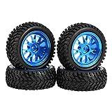 Dilwe Neumáticos de Rally de Llantas en Forma de Y de Metal Azul 1/18 para WL 1/18 A959 A979 A969 RC Crawler Car Model