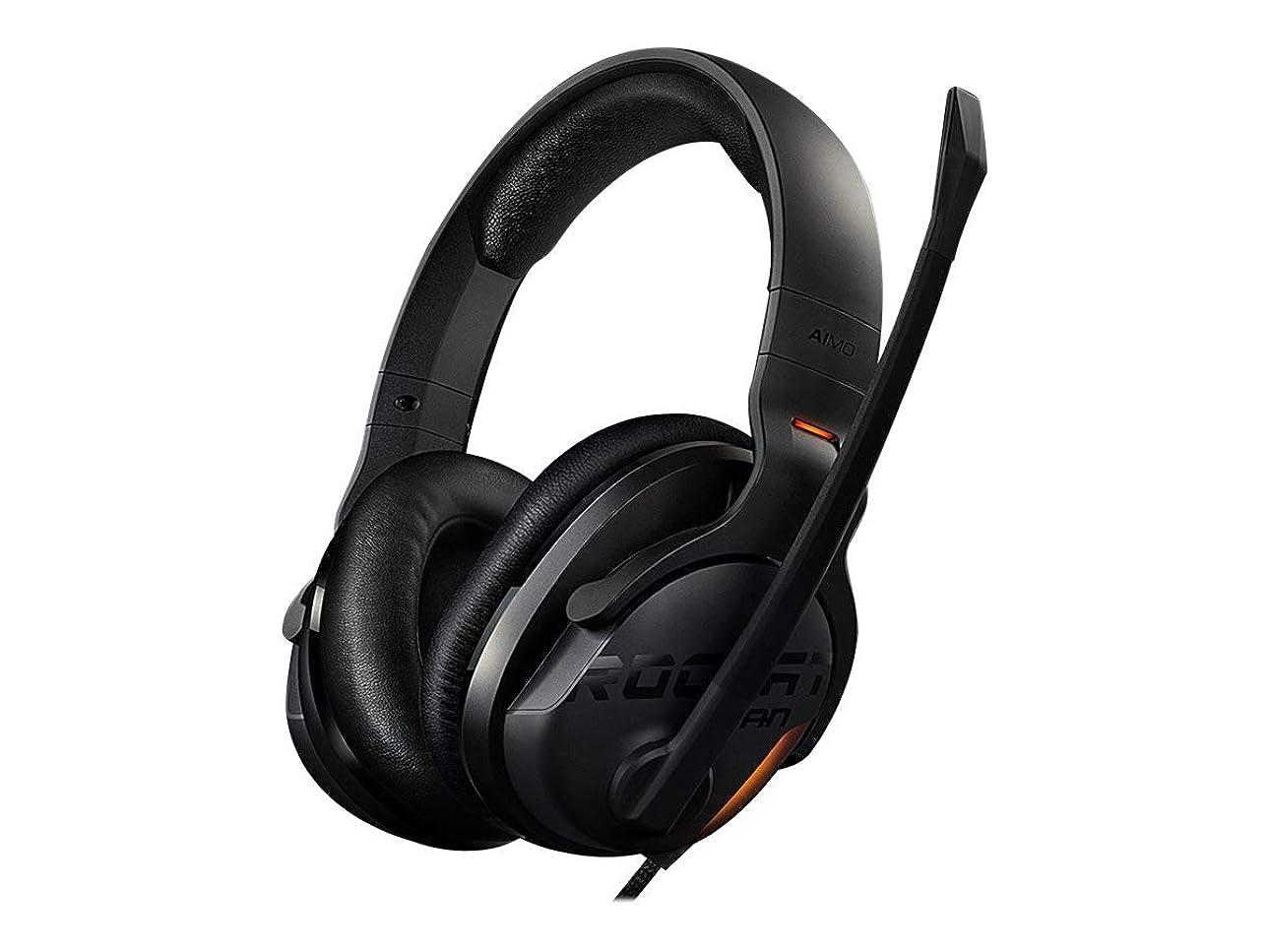 流出貢献する愛撫Roccat Khan Aimo 7.1 Hi Res Rgb Gaming Headset, Black Roc-14-800
