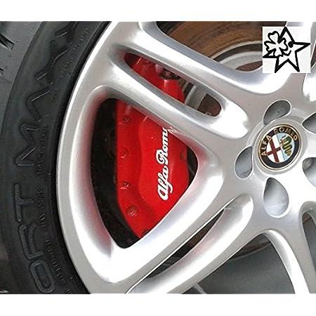 Myrockshirt Alfa Romeoaufkleber 4 X Bremsenaufkleber Bremsen Aufkleber Bremssattel Hitzebeständig Decals Stickers Estrellina Glücksstern Auto