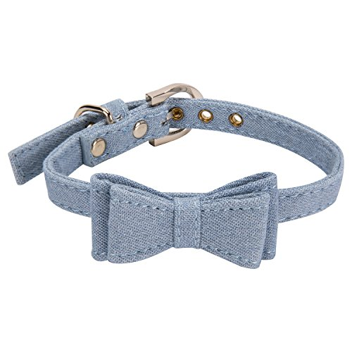 Collar for Small Dogs and Cats - StrawberryEC Cute Bowtie Dog Collar for Girls and Boys (Classic Bow)