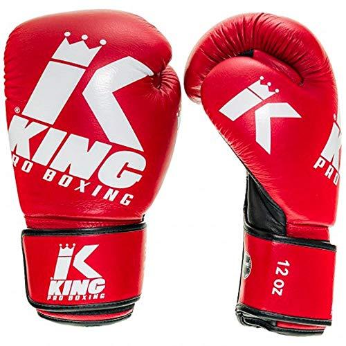 King PRO Boxing Boxhandschuhe, Platinum 4, rot Größe 10 Oz