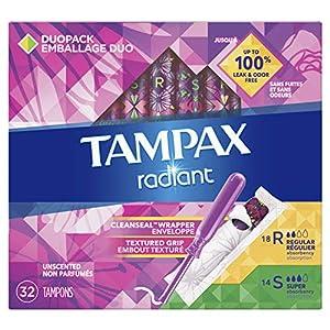 Tampax Radiant Plastic Regular Super