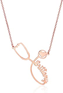 Custom Name Stethoscope Necklace Medical Student Gift Nurse Gift