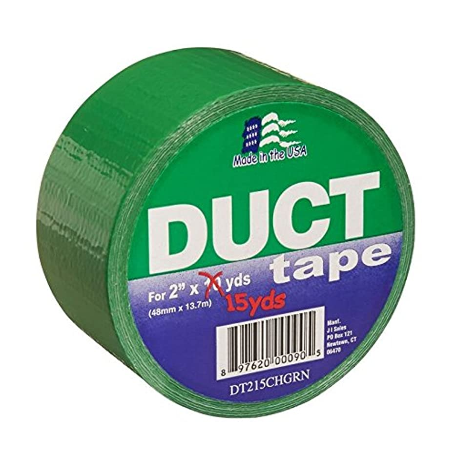 Signature Crafts Fashion Duct Tape Solid Green DT215CHGRN 15 Yards 1.88 Inches Wide, 15 yd 1.88
