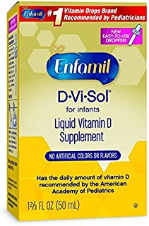 Enfamil D-Vi-Sol Vitamin D Supplement Drops for Infants 50 mL dropper bottle (Packaging May Vary)