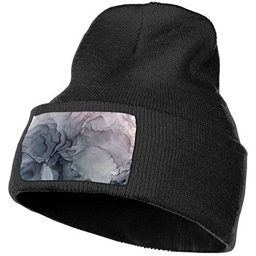 AEMAPE Payne'S - Gorro de punto suave para invierno, diseño abstracto, color gris