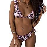 Mujeres de verano Sexy Push Up acolchado traje de baño ropa de playa traje de baño Bikinis, rosa, L